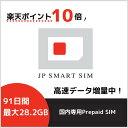 【楽天スーパーセール10倍ポイント実施中】【5GB増量中】91日間 最大28.2GB利用可能 プリペイド Docomo回線 送料無料 …