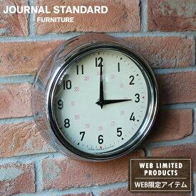 journal standard Furniture ジャーナルスタンダードファニチャー GENT WALL CLOCKCROME ゲント ウォールクロック クローム 時計 掛け時計 掛時計 NATURAL 家具 【送料無料】【ポイント20倍】