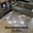 journal standard Furniture ジャーナルスタンダードファニチャー BRITISH TILE RUG GY ブリテッシュタイルラグ1600...