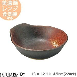 明志野(あきしの) 呑水 220cc 13×12.1×4.5cm 美濃焼 日本製 国産 とんすい 黒 茶色 陶器 鍋 玉子入れ すき焼き しゃぶしゃぶ ポン酢 ごまだれ 雑炊 皿 ボウル スタック かっこいい おしゃれ 業務用