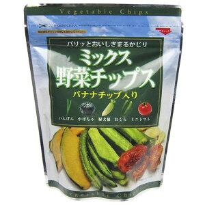 ベジタブル いんげん バナナ フジサワ ミックス野菜チップス(100g) ×10個 フライ だいこん おくら かぼちゃ トマト ドライ 同梱・代引不可