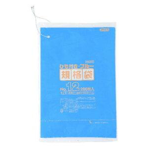 ジャパックス HD規格袋 厚み0.010〜0.012mm No.12 ひも付き 青 200枚×10冊×3箱 HKB12  同梱・代引不可