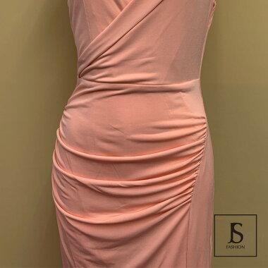 【今だけ送料無料】ロングドレス全2色深いスリットロングワンピースパーティードレスロング丈ストレッチワンピノースリーブ春夏きれいめ華やかおしゃれ大人セクシーSMLXL大きいサイズ大人可愛いJSファッション【200226】【2月新作】