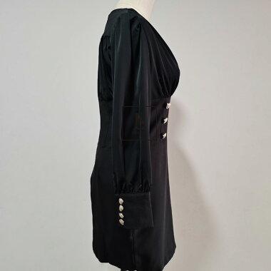 【1/20まで限定値下げ】【送料無料】パーティードレスワンピースミディアム丈ブラックドレスきれいめ華やかおしゃれ大人セクシーSMLXL大きいサイズ大人可愛いJSファッション【210114】【1月新作】