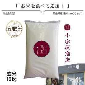 新米 10kg 米10 きぬむすめ10kg 令和元年 循米めぐり米 きぬむすめ 玄米 岡山県真庭産 お米10kg送料無料 美味しいお米