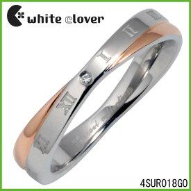 【white clover】Xクロスダイヤモンドローマステンレスリング(ゴールド単品)ステンレスジュエリー ホワイトクローバー【楽ギフ_包装選択】