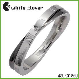 【white clover】Xクロスダイヤモンドローマステンレスリング(ブラック)ステンレスジュエリー ホワイトクローバー【楽ギフ_包装選択】