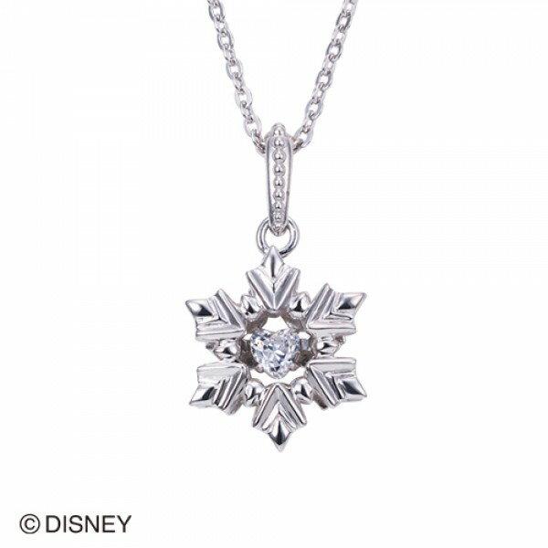 【white clover Disney Series】ディズニー アナと雪の女王 FROZEN 雪の結晶 スノーフレークネックレス シルバー&オルゴール付きジュエリーBOX DI300RD【楽ギフ_包装選択】