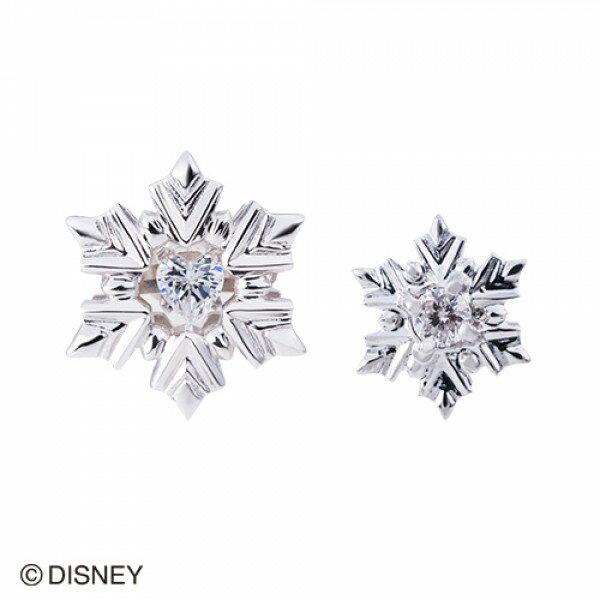 【white clover Disney Series】ディズニー アナと雪の女王 FROZEN 雪の結晶 スノーフレークピアス2個set シルバー&オルゴール付きジュエリーBOX DI302RD【楽ギフ_包装選択】
