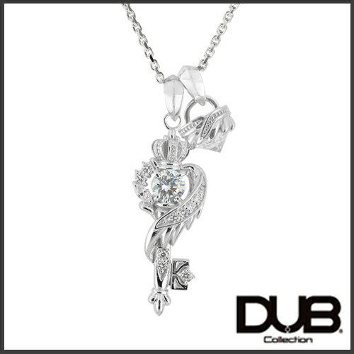 【DUB Collection│ダブコレクション】桜井莉菜 model Wing Key Stone Necklace ウィングキーストーンネックレス DUB-C051-1/DUB-C052-1(wh)【さくりなコラボ】【楽ギフ_包装選択】