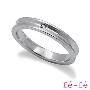 【fe-fe フェフェ】ステンレス リング レディース ペア スーパースチール fe-207【楽ギフ_包装選択】