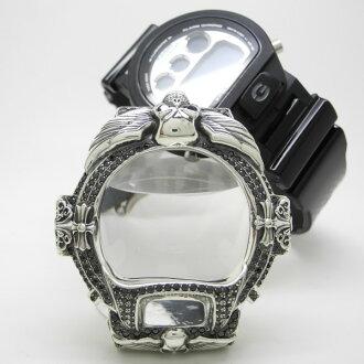 银子人手表SV SILVER925表G打击G-SHOCK覆盖物氧化锆CZ surassha DW-6900