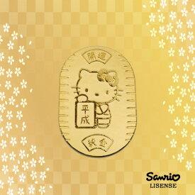 [受注生産]新年号記念【Hello Kitty】令和 平成 ハローキティ 純金 小判 10g 招き猫 縁起物 K24【送料無料】【楽ギフ_包装選択】