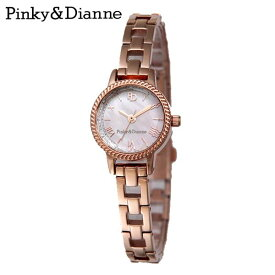 【Pinky&Dianne】人気のピンキー&ダイアン腕時計!ケースは縄模様が一周していて海が似合うデザイン! PD003PPK P&D 【楽ギフ_包装選択】