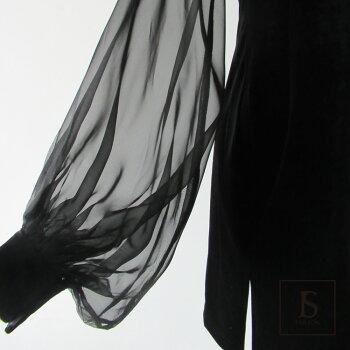 【送料無料】チャイナドレス風シースルー袖ベロアタイトワンピースミニワンピースパーティードレスブラックドレスきれいめ華やかおしゃれ大人セクシーSMLXL大きいサイズ大人可愛いJSstar【200414】【4月新作】