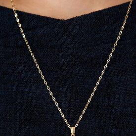 ネックレス 中空アズキチェーン長さ約50cm 18金 K18/WG チェーン幅約1.6mm レディース k18ネックレス ゴールド ホワイトゴールド