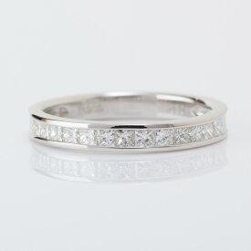 【11月中ご購入でクリスマスイブに間に合います】ハーフエタニティリング Pt900 ダイヤ プリンセスカット 指輪 ダイヤモンド 計0.5ct VSクラス Hカラーアップ 鑑別書付き プラチナ