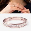 フルエタニティリング プリンセスカット K18PG(18金ピンクゴールド) 指輪 レディース k18 ダイヤ 指輪 1ct フルエタニティ 専門機関による鑑別書付き ラッピング(無料)