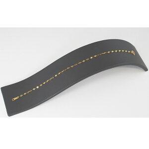 純金 K24 ペタルチェーンブレスレット 約0.65g 約18cm 24金【造幣局品位証明刻印】