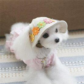 犬帽子 犬漁夫帽 可愛いい キュートキャップ 犬用キャップ ペットグッズ 春夏ハット ドッグウェア 日よけ 熱中症対策 お出かけ用品【ra78806】
