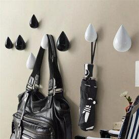 しずく 滴 レインドロップフック 壁掛け フック 樹脂製 ウォールハンガー 北欧モダン 黒 水色 白 壁に取り付け【ra80402_ra83902】ネコポス不可