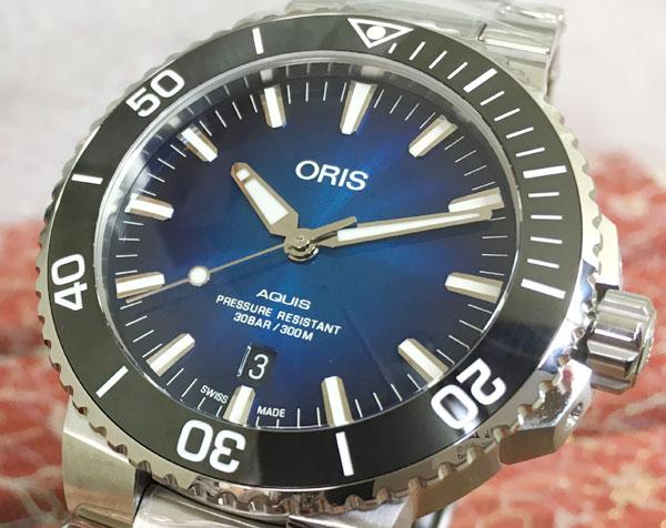 オリスジャパン正規3年保証 オリス 腕時計 ORIS メンズ ウォッチ アクイスダイバーズ クリッパートン限定モデル国内在庫最後です 733.7730.4185M 自動巻き ダイバーズウオッチ ギフト 人気 ラッピング無料 国内正規3年保証 令和をオリスで頑張りましょう