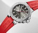 オリスジャパン正規3年保証2019新作 ORIS オリス腕時計 メンズウォッチ アクイスダイバーズ 真っ赤なラバーベルト733.7730.4153R 自動…
