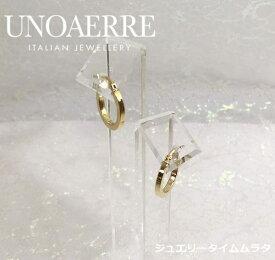 ウノアエレ ピアスK18YG イエローゴールド レディース UNOAERRE ITALY 750 保証書 純正ポーチ付属 プレゼント ギフト 人気 ラッピング無料 イタリア製 手書きのメッセージカードお付けしますあす楽対応