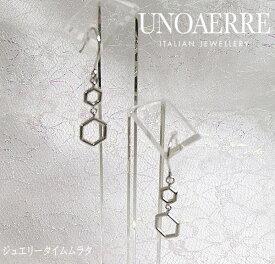 ウノアエレ ピアス K18WG ホワイトゴールド レディース UNOAERRE ITALY 750 プレゼント ギフト 人気 ラッピング無料 イタリア製 手書きのメッセージカードお付けします あす楽対応