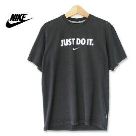 Nike ナイキ JUST DO IT プリントTシャツ ブラック Mサイズ t180529-11