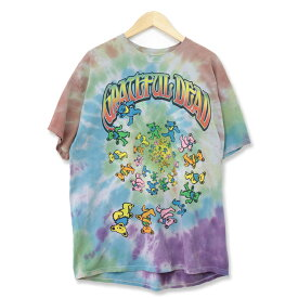 Grateful Dead グレイトフル・デッド ロック ROCK バンド キャラクター Tシャツ タイダイ マルチカラー XLサイズ t180607-19