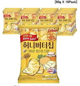 [ヘテ] 大人気 ハニーバター/Honey Butter Chip・スナック・韓国お土産・韓国お菓 (60g X 16Pack) [海外直送品]