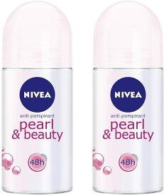 NIVEA(ニベア)(Pack of 2)パールそしてビューティー制汗剤デオドラントロールオン女性のための2x50mlDeodorant pearl & beauty(roll on)