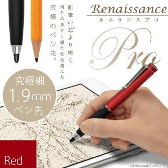 """1.9 毫米直径的铅笔笔尖""""文艺复兴 Pro 终极精细手写笔 (红色) iPhone、 iPad、 iPad 迷你系列、 新世界顶尖细触摸笔触摸灵敏度调节与文艺复兴时期专业"""