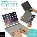 【送料無料】「iPad 9.7インチ用 カバー&キーボード Bookey smart (ブラック)」Bluetooth ブルートゥース・iPad Ai…