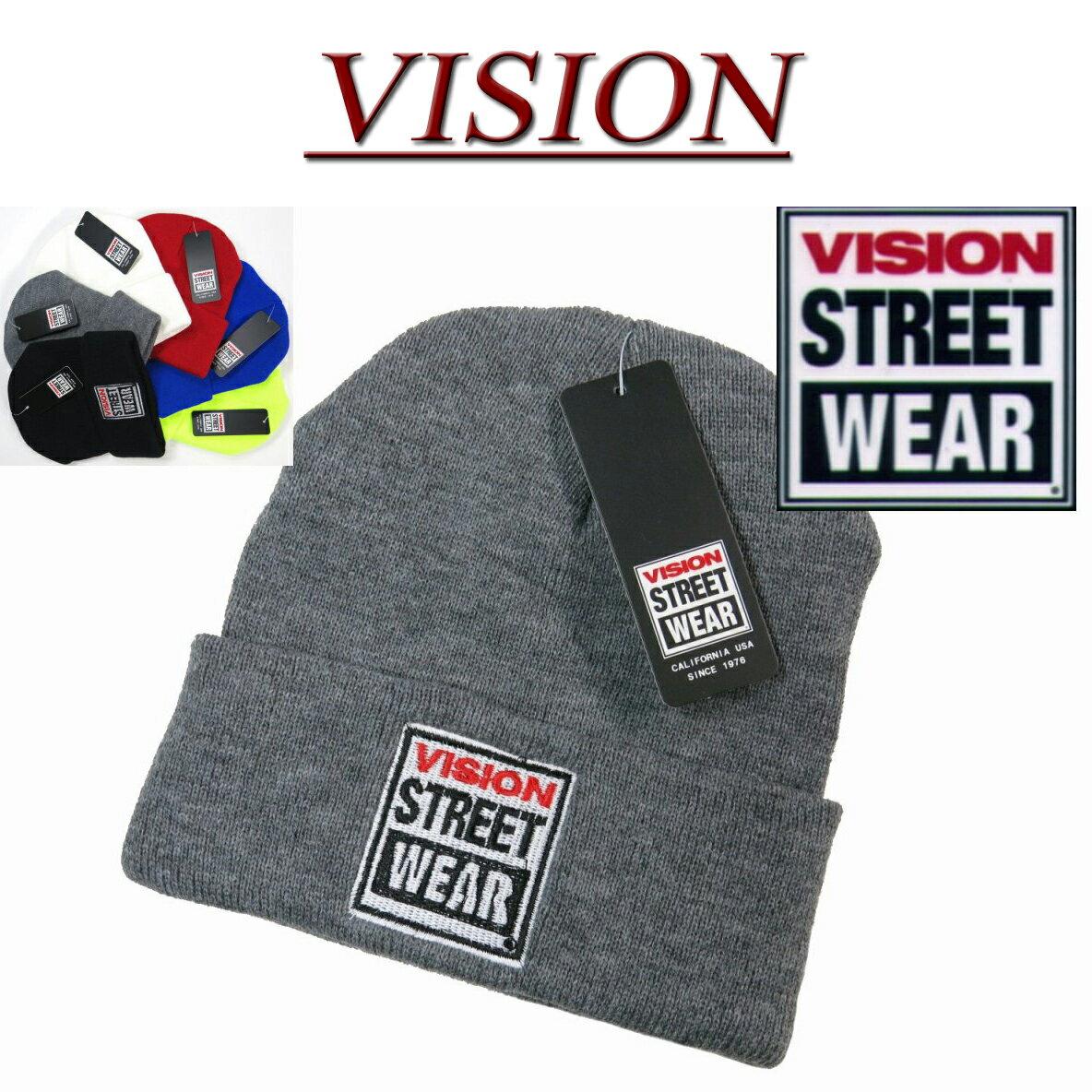 【6色】 nx702 新品 VISION STREET WEAR ワッペン付 ビーニー ニットキャップ 4410008 メンズ BEANIE KNIT CAP ヴィジョン ストリートウェア ビジョン ロゴ 無地 ニット帽子 アメカジ