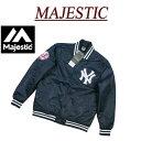【5サイズ】 ib661 新品 MAJESTIC 当店別注モデル ニューヨーク ヤンキース ナイロンサテン スタジャン NYK0052 メンズ マジェスティック MLB OFFICIAL WEAR N