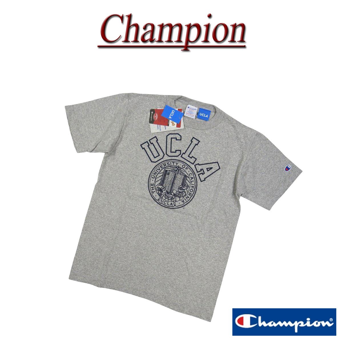 【4サイズ】 ja482 新品 Champion × UCLA コラボ USA製 染み込みプリント 半袖 Tシャツ C5-H303 メンズ T1011 チャンピオン ティーテンイレブン カレッジプリント ティーシャツ トリコタグ MADE IN USA