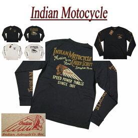 【2色4サイズ】 ja821 新品 INDIAN MOTOCYCLE ヘッドマーク チェーン刺繍 ロンT IMLT-607 メンズ ティーシャツ 長袖 Tシャツ ロンティー インディアンモトサイクル IndianMotocycle