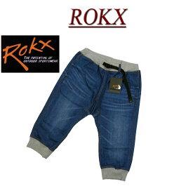 【5サイズ】 rx731 新品 ROKX DENIM COTTONWOOD CROPS ロックス アンティーク加工 デニム地 七分丈 アスレチック クロップド クライミングパンツ RXMS6204 RXMS6104 メンズ コットンウッド クロップス ショートパンツ ショーツ 【smtb-kd】
