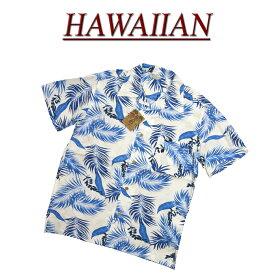 【7サイズ】 wu447 新品 リーフ柄 半袖 レーヨン100% アロハシャツ メンズ アロハ ハワイアンシャツ 【smtb-kd】 (ビッグサイズあります!)