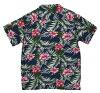 wu449 new hibiscus floral print short sleeve rayon 100% Hawaiian shirts Aloha Hawaiian shirts (you big!) 10P03Sep16