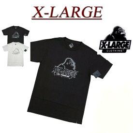 【2色4サイズ】 ab821 新品 X-LARGE COLORING BOOK SS TEE OGロゴプリント 半袖 Tシャツ メンズ アメカジ エクストララージ ティーシャツ XLARGE