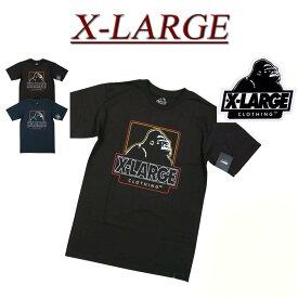 【2色4サイズ】 ac011 新品 X-LARGE CENTRAL SS TEE OGロゴプリント 半袖 Tシャツ メンズ アメカジ エクストララージ ティーシャツ XLARGE