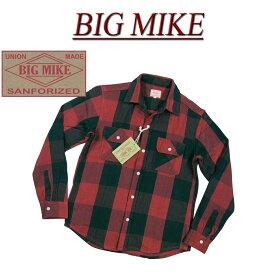 【7色4サイズ】 ac195 新品 BIG MIKE 復刻 長袖 バッファローチェック ヘビーネルシャツ 101735014 メンズ ビッグマイク HEAVY FLANNEL WORK SHIRTS フランネルシャツ ワークシャツ ヘビネル BIGMIKE Made in INDIA 【smtb-kd】