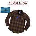 【5サイズ】 ac233 新品 PENDLETON CANYON SHIRT FITTED オンブレチェック 長袖 ウール ウエスタンシャツ DA023-31960…