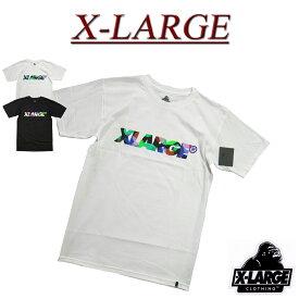 【2色4サイズ】 ac431 新品 X-LARGE TAB SS TEE ロゴプリント 半袖 Tシャツ M17D1106 メンズ アメカジ エクストララージ ティーシャツ XLARGE