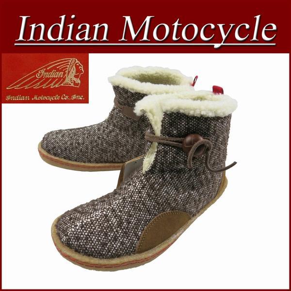 【9サイズ】 fw761 新品 Indian Motocycle MATTOLE ファブリック×レザー 裏ボア クレープソール モカシンブーツ IND-11103 メンズ & レディース ネイティブ インディアンモトサイクル IndianMotocycle