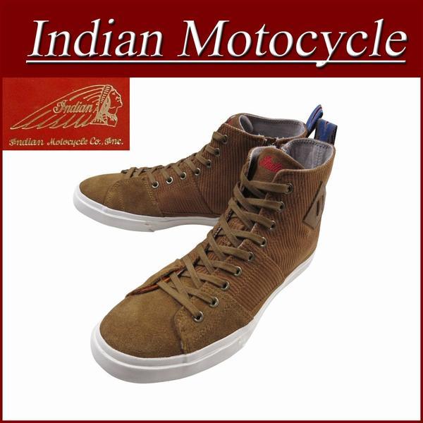 【2017秋冬! 5サイズ】 fw861 新品 Indian Motocycle CORNO HI ファブリック×レザー サイドジップ ハイカット スニーカー IND-11222 メンズ インディアンモトサイクル インディアンスニーカー IndianMotocycle 【smtb-kd】