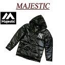 【3サイズ】 ja941 新品 MAJESTIC ニューヨーク ヤンキース フード付 中綿入り ベンチコート ジャケット MM23-NYK-006…